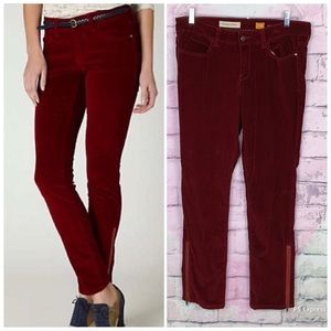 Pilcro Anthro Stet corduroy slim ankle pants 31
